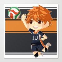 haikyuu Canvas Prints featuring Haikyuu!! by Nozubozu