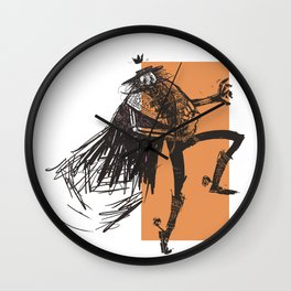 skeleton lord mexican style Wall Clock