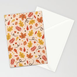 Fall Leaves Pattern Stationery Cards
