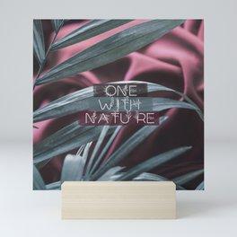 One with nature Mini Art Print