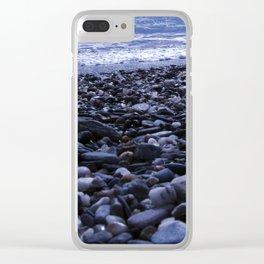 BLUE BEACH of SICILY Clear iPhone Case