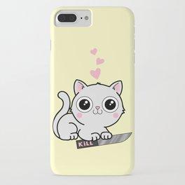 Kitty Hearts Kill - Cats Love Plotting iPhone Case