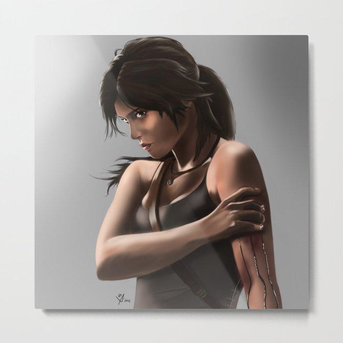 Lara Croft Metal Print