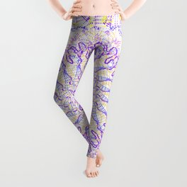 Yellow & Purple design Leggings