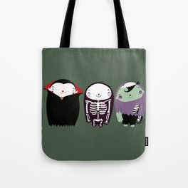 happy monster friends Tote Bag