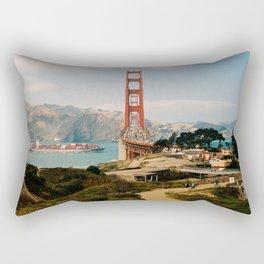 Golden Gate Bridge shot on film Rectangular Pillow