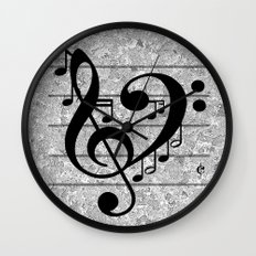 Love Music Wall Clock