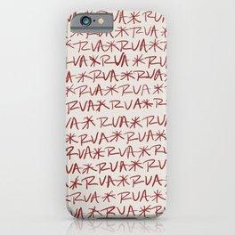 RVA Red on Cream  iPhone Case