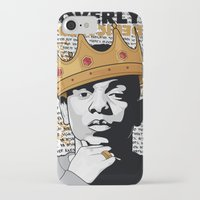 kendrick lamar iPhone & iPod Cases featuring King Kendrick - Overly Dedicated by Gagegfx