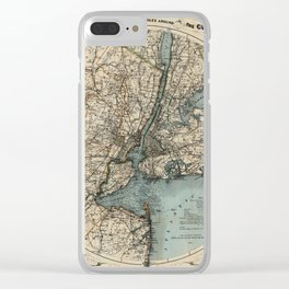 Map of Upstate New York 1891 Clear iPhone Case