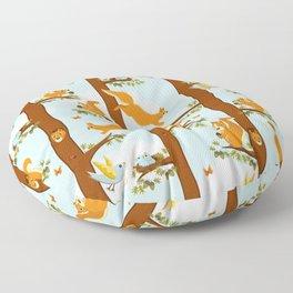 squirrel party Floor Pillow