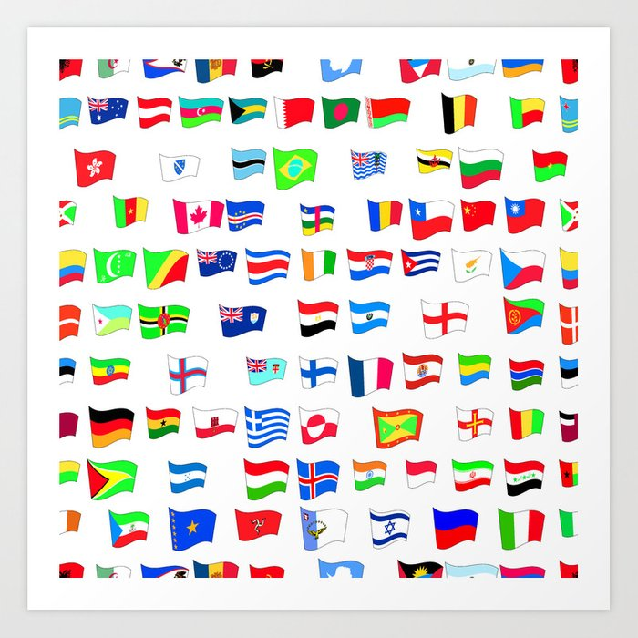 It is a photo of Intrepid Printable Country Flags