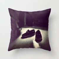vans Throw Pillows featuring Vans by Efua Boakye