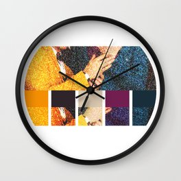 All You Need is Colors Wall Clock