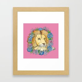 Bhanu In Flowers Framed Art Print