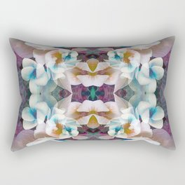 Floral Kaleidescope Pink Orange Purple Blue Rectangular Pillow