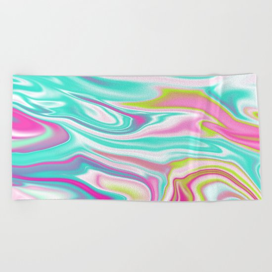 Iridescent Marble 17 Beach Towel