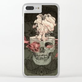Red Fish and Smokey Skull Clear iPhone Case
