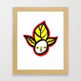 Yellow Leaf Babe Framed Art Print