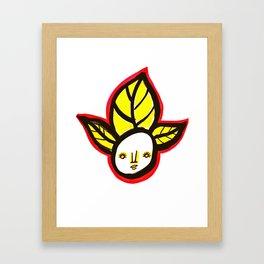 Yellow Leaf Babe Framed Art Print