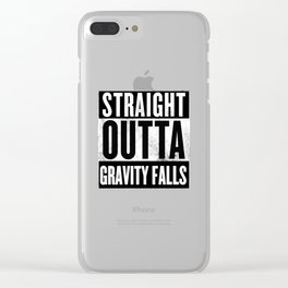 straight outta gravity falls Clear iPhone Case