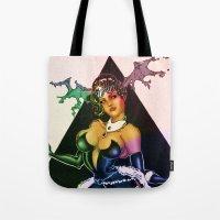 devil Tote Bags featuring Devil by kumo izuru