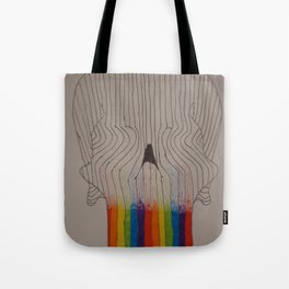From the overflow of the troubled mind... Tote Bag