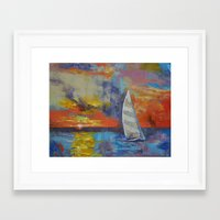 sailboat Framed Art Prints featuring Sailboat by Michael Creese