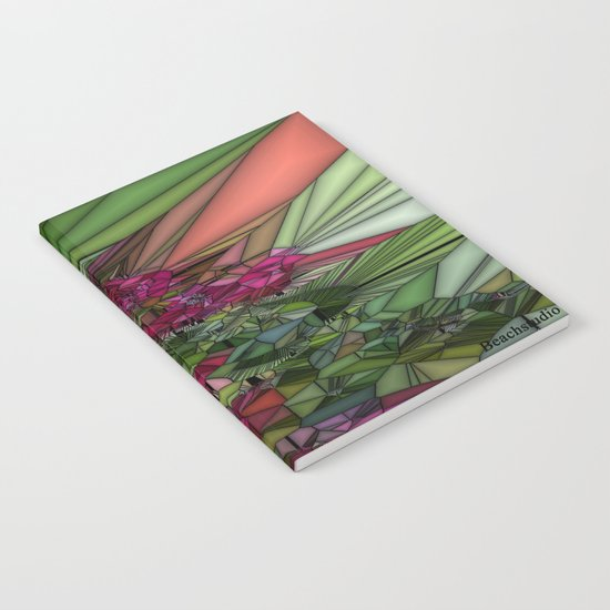 Pink and Green Glass Notebook