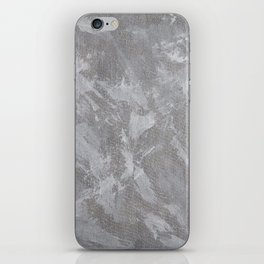 White Ink on Silver Background iPhone Skin