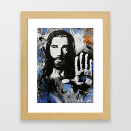 Living Proof Jesus Painting Framed Art Print