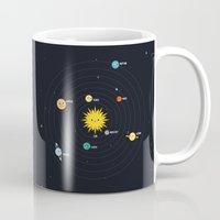 solar system Mugs featuring Solar System by Sara Showalter