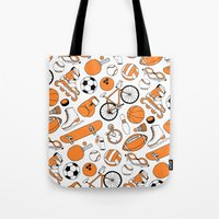 sports Tote Bags featuring SPORTS by Shoreside