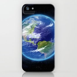Planet Earth in Space iPhone Case