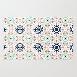 Pastel Moroccan Pattern Rug