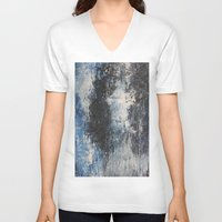 the strokes V-neck T-shirts featuring Strokes by Hasan Nisar Basra