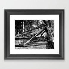 Broken By Forces Framed Art Print