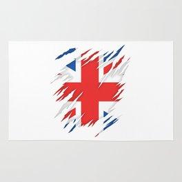 Torn Flag UK Rug