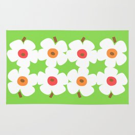 White Poppies Rug