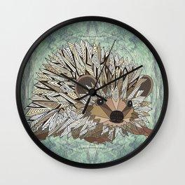 Woodland Hedgehog Wall Clock