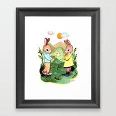 Happy Birthday Little Rabbit Framed Art Print
