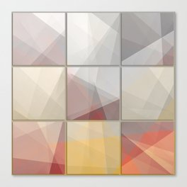 Abstract triangle art Canvas Print