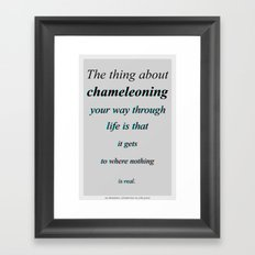 Chameleoning Framed Art Print