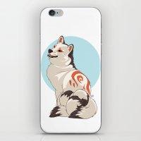 shiba inu iPhone & iPod Skins featuring Shiba Inu Kitsune by AlliePets