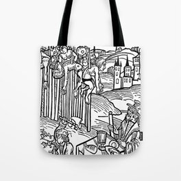 Vlad the Impaler and his victims Tote Bag