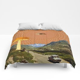 Mushroom day Comforters