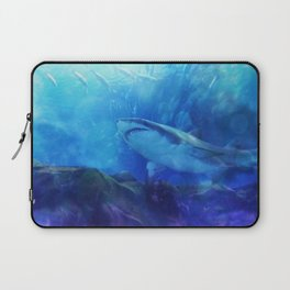Make Way for the Great White Shark King  Laptop Sleeve