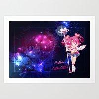 chibi Art Prints featuring Sailor Chibi Chibi Moon by Neo Crystal Tokyo