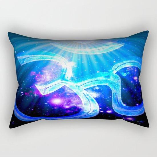 Om : Blue Purple Galaxy Rectangular Pillow