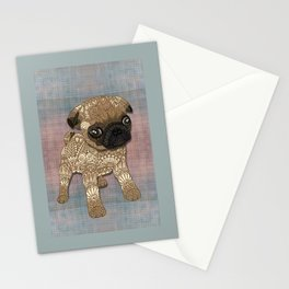Pug Puppy Stationery Cards